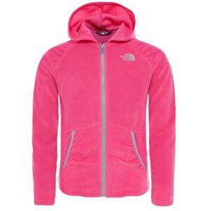 The North Face Girls Mezzaluna Fleece Hoodie Petticoat Pink Junior
