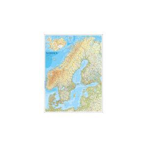 Norstedts Nordenkarta 1:2M 77x102cm