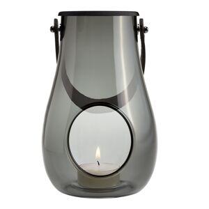 Holmegaard Design with Light Lanterna 16 cm Rökfärgad