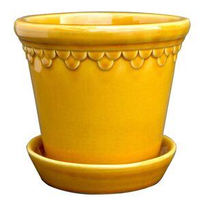 Bergs Potter Köpenhavner Kruka/fat 14 cm Gul amber