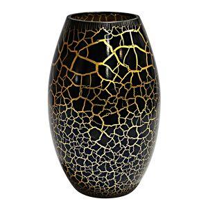 Nybro Crystal Croco Vas 26 cm Svart/Guld