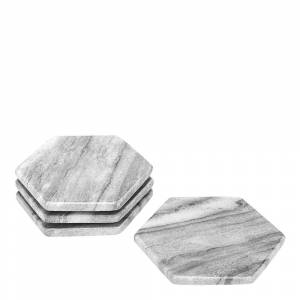 Table Top Stories Rumours Glasunderlägg 4-pack Grå marmor