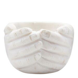 House Doctor Hands Skål Marmor Vit 10x15 cm