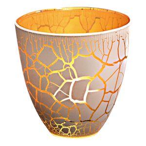 Nybro Crystal Croco Ljuslykta 10 cm Vit/Guld