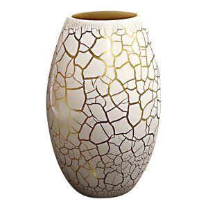 Nybro Crystal Croco Vas 26 cm Vit/Guld