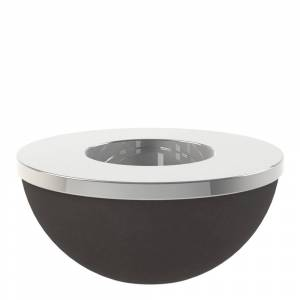 Cooee Light Bowl Ljushållare/skål 8 cm Svart/Silver