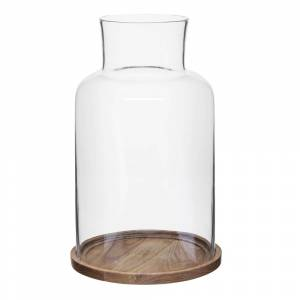 Sagaform Nature Ljuslykta Glas 21,5 cm