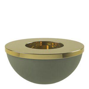 Cooee Light Bowl Ljushållare/skål 8 cm Grön/Mässing