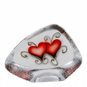 Nybro Crystal Crystal Ink Block 11x14,5 cm heart