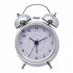 NeXtime Wake Up Väckarklocka 9 cm Rostfri