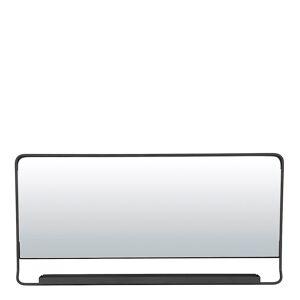 House Doctor Chic Spegel med hylla Svart 80x40 cm