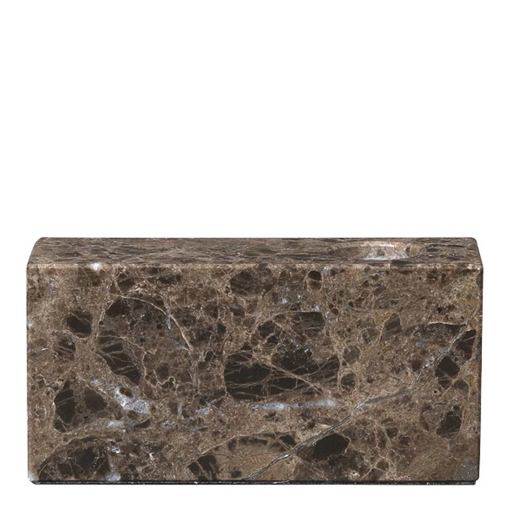 Blomus Bloc Ljusstake Marmor Brun