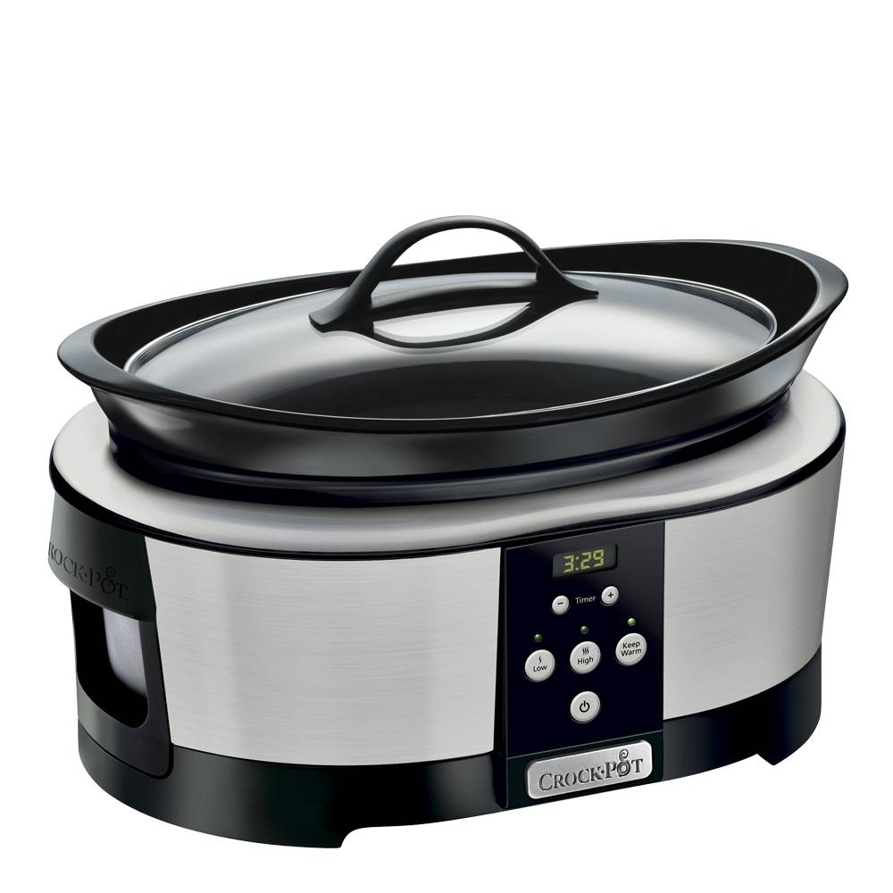 Crock-Pot Slowcooker med timer 5,7 L Rostfri