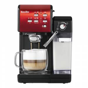 Breville Prima Latte II Kaffemaskin Röd
