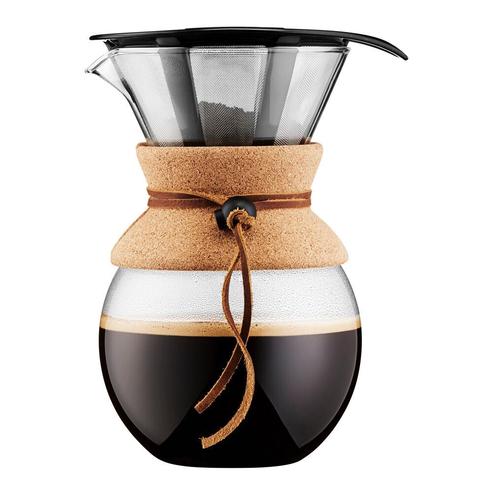 Bodum Pour Over Bryggare 1 L/8 koppar filter/kork