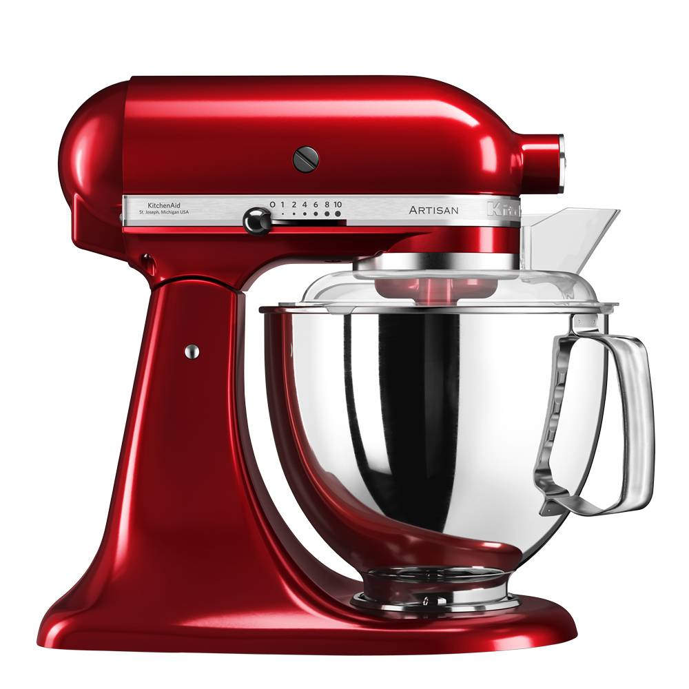 KitchenAid Artisan Köksmaskin 4,8 L + tillbehör Röd metallic