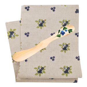 Skandinavisk Hemslöjd Set Handduk + Smörkniv Blåbär