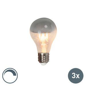 Calex Uppsättning av 3 LED glödlampor huvudspegel E27 240V 4W 300lm A60 dimbar