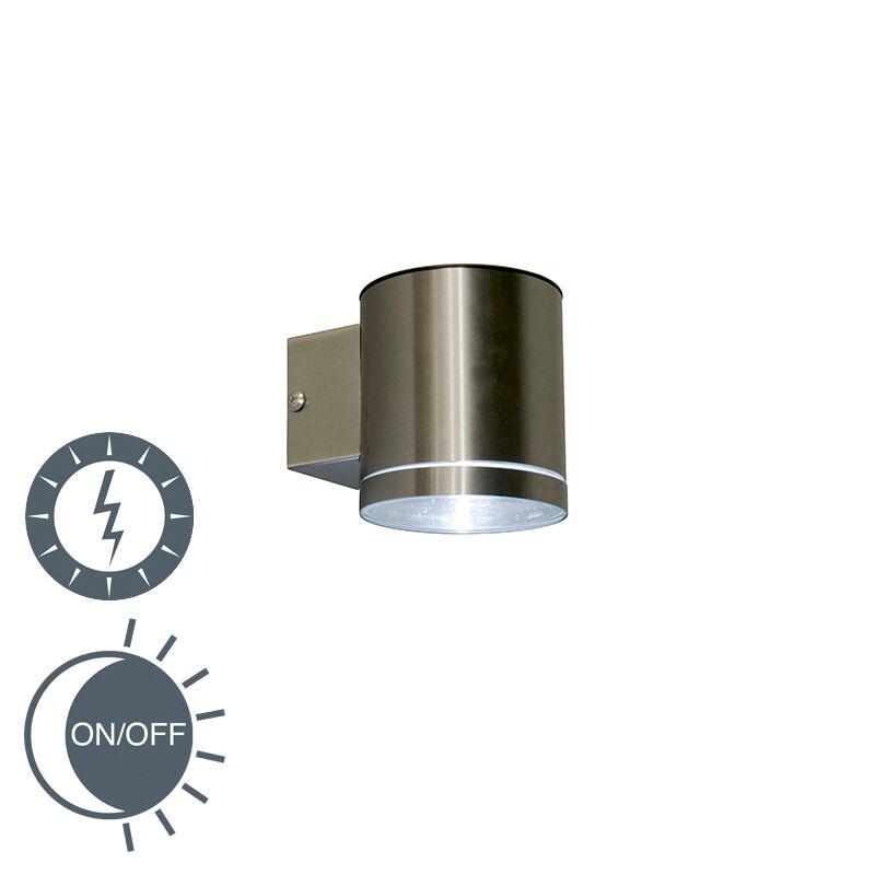 Ranex Vägglampa solcell 'Eta LED Solar' Moderna stål - LED inkluderat / Utomhus