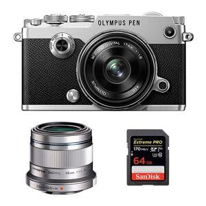 Olympus PEN-F + 17 + 45 + 64 GB Silver (Demoexemplar)