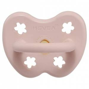 Hevea Naturgumminapp - Powder Pink, 0-3 mån, Anatomisk