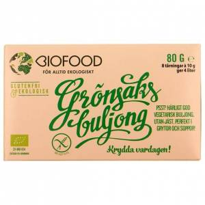 Biofood Ekologisk Grönsaksbuljong Tärning, 8 st