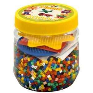 Hama Beads Midi 4.000 Pärlor Mix, Pärlask & Pärlplattor