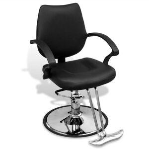 vidaXL Professionell frisörstol konstläder svart