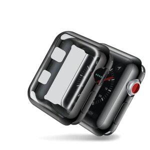 INF Apple Watch 42mm Series 2/3 heltäckande skärmskydd - svart