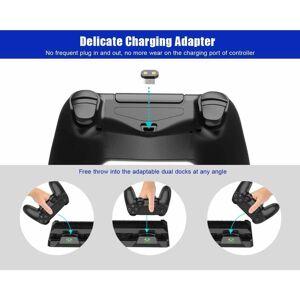 INF Multifunktionellt PS4 stativ med fläkt, laddstation, spelförvaring