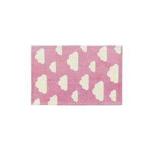 Beliani Barnmatta 60 x 90 cm rosa/vit GWALIJAR