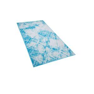 Beliani Matta 80 x 150 cm ljusblå ELAZIG