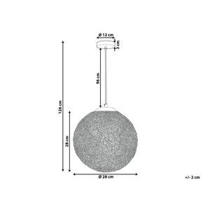 Beliani Taklampa silver TURAMA