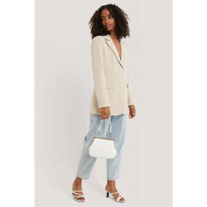 NA-KD Accessories Ostrich Look Clasp Bag - White