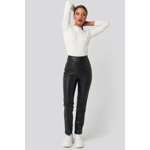 Karo Kauer x NA-KD PU Leather Pants - Black