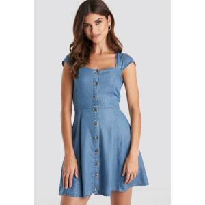 MANGO Angel Dress - Blue