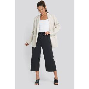 MANGO Easy Trousers - Black
