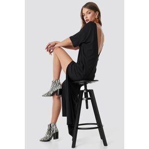 NA-KD Party Deep Back Oversize Dress - Black