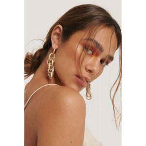 NA-KD Accessories Sammanflätade Kedjeörhängen - Gold