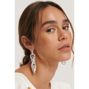 NA-KD Accessories Sammanflätade Kedjeörhängen - Silver