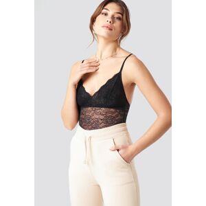 Pamela x NA-KD Lace Bodysuit - Black