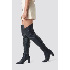 NA-KD Shoes Classic Overknee Boots - Black