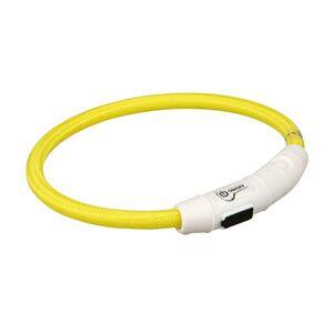 Trixie Flashring Lysande Hundhalsband (XS-S  Gul)
