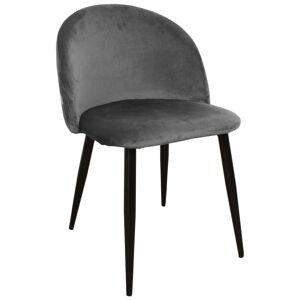 Nimara.se Alice sammet stol i Grå med svarta ben