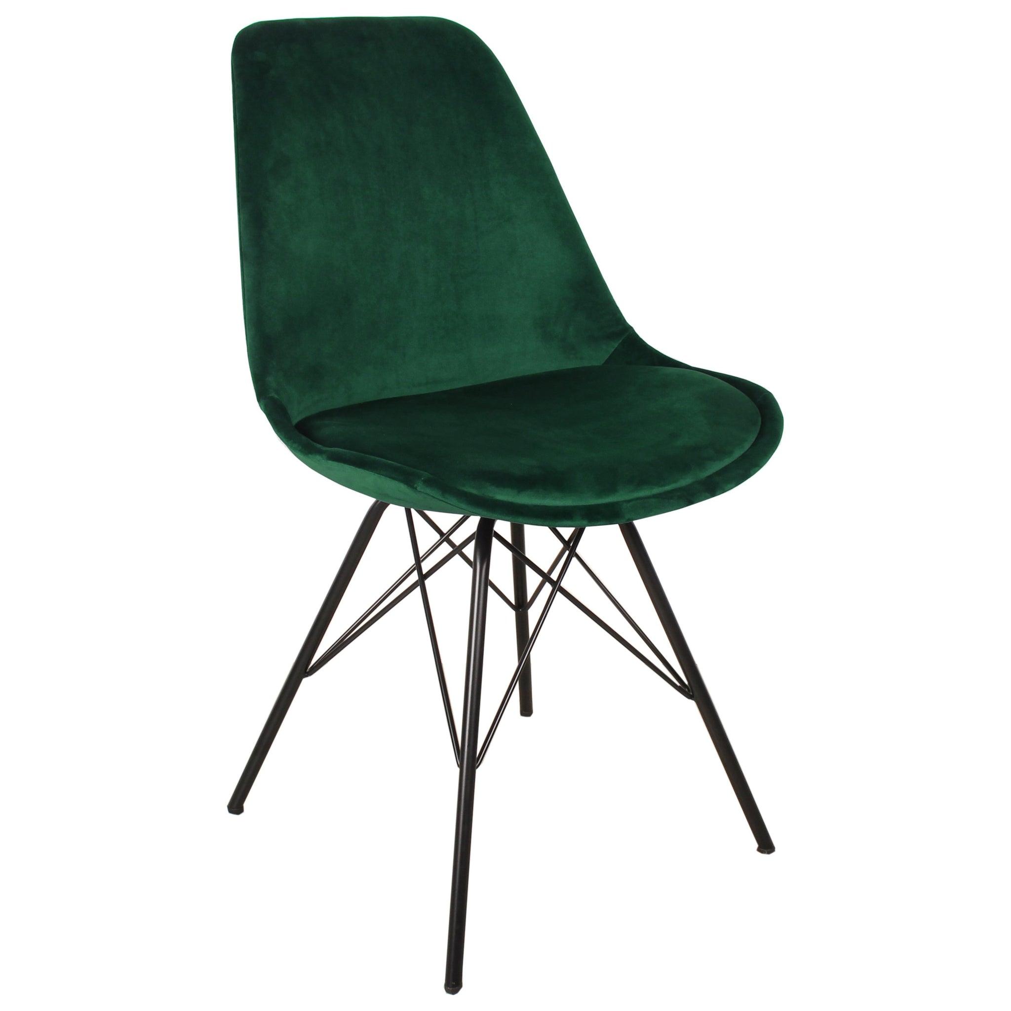 Nimara.dk Alberte matstol i sammet - Grön