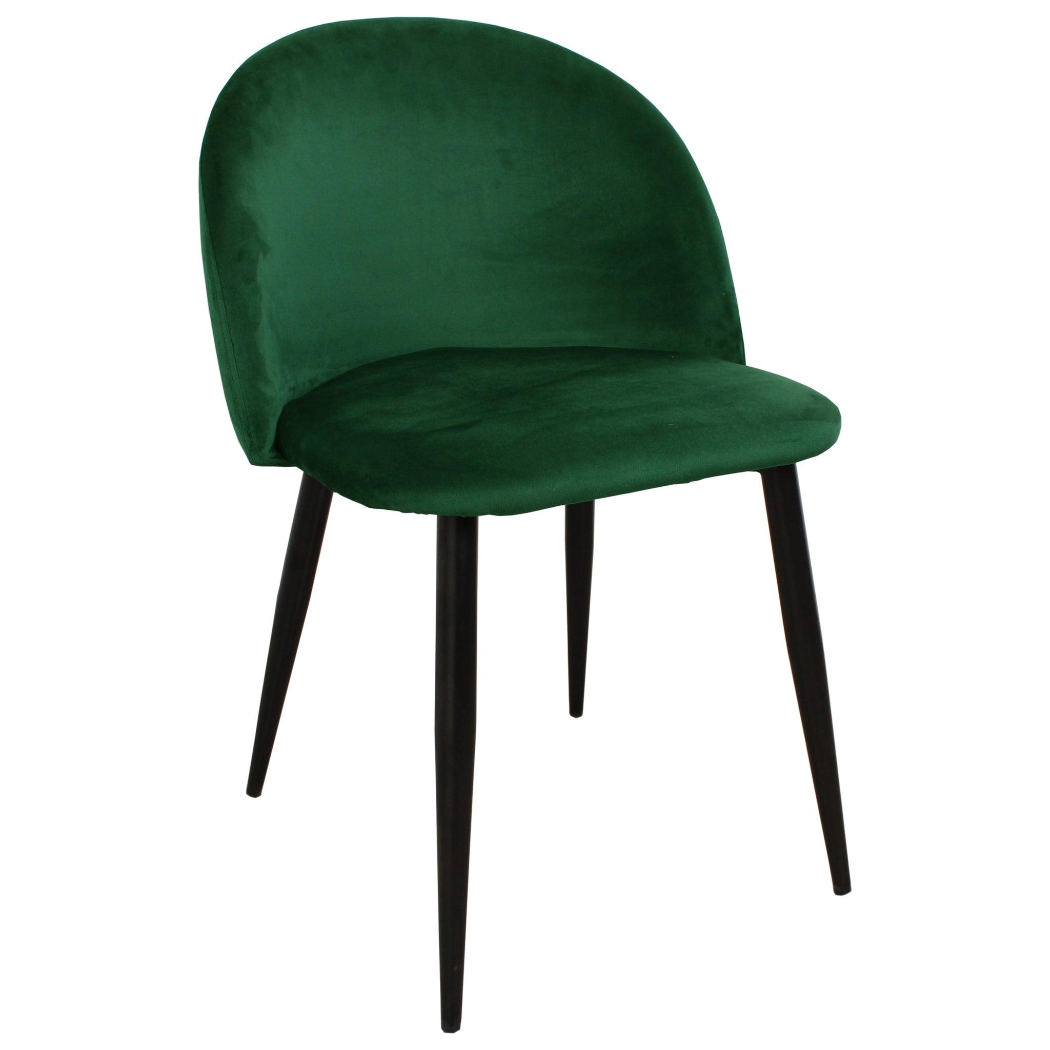 Nimara.se Alice sammet stol i Grön med svarta ben