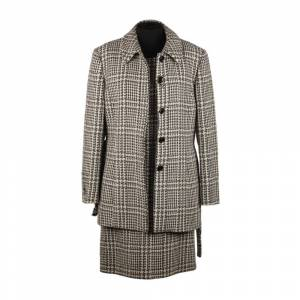 Gerani vintage Houndstooth Alpaca Shift Dress and Coat Suit