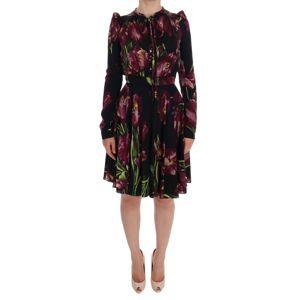 Dolce & Gabbana Silk Stretch Tulip Sheath Dress