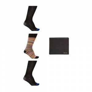 Paul Smith Socks three-pack & leather wallet