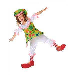 Vegaoo.se Cookie - Clownklänning för barn - 110 - 120 cm S (4 - 6 år)